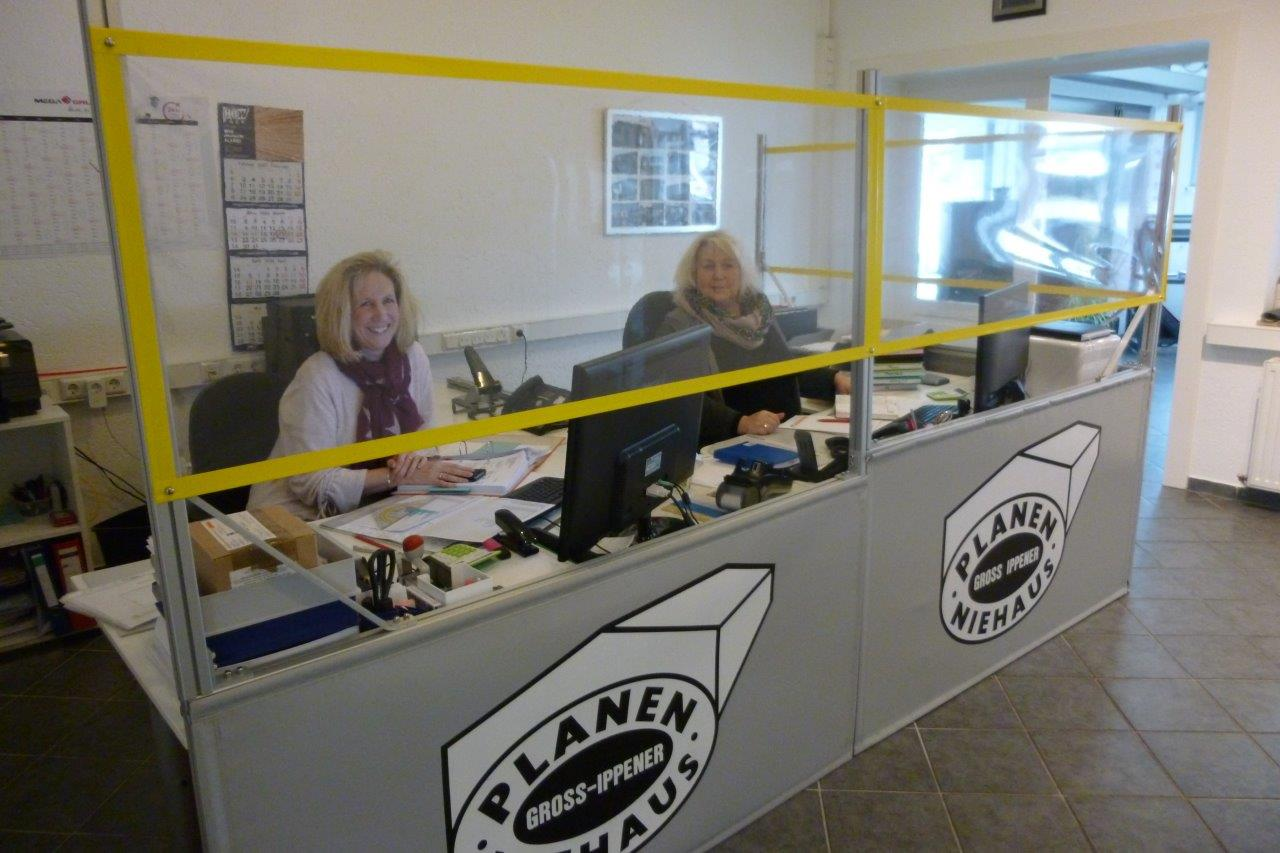 Individueller Coronaschutz in unserem Büro